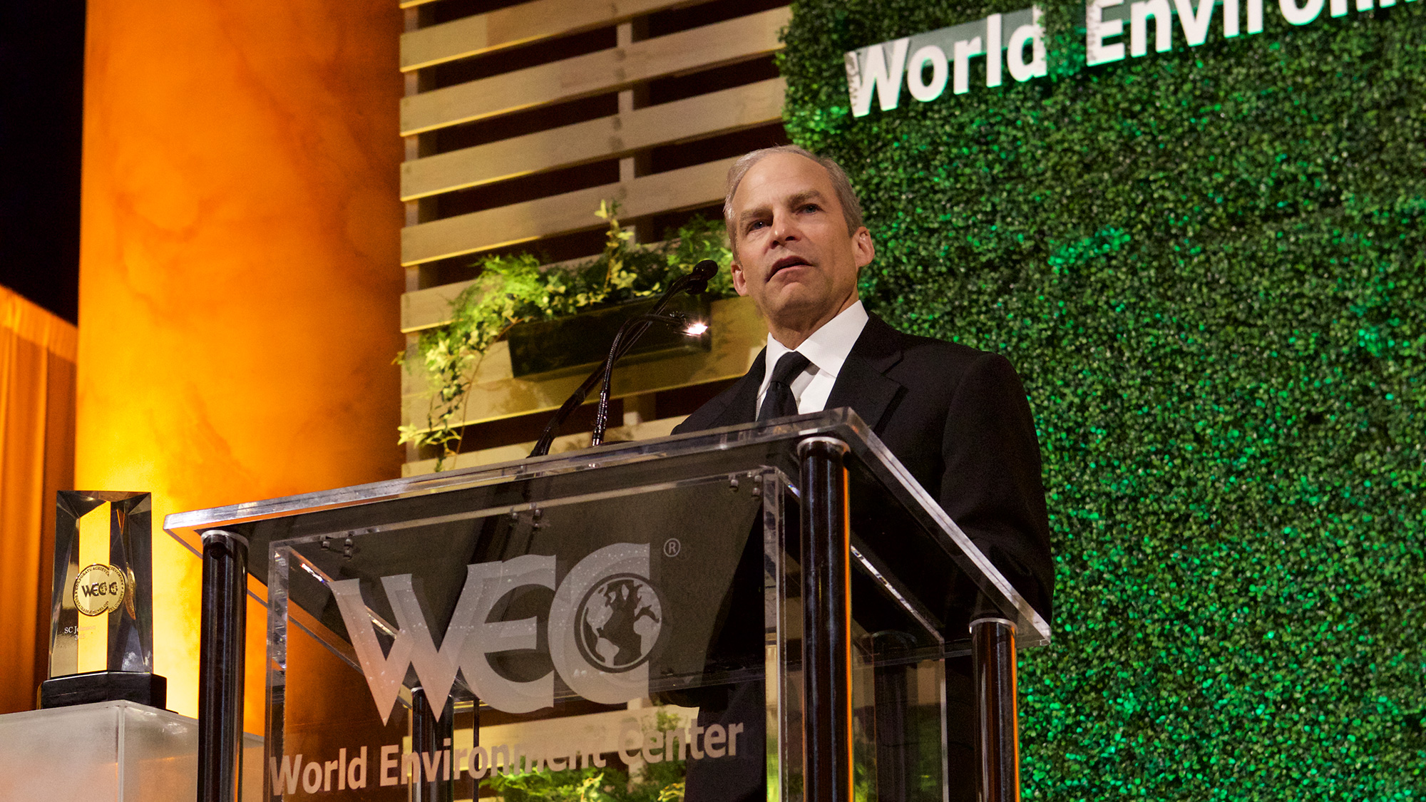 Fisk Johnson receiving the World Environment Center's Gold Medal for International Corporate Achievement in Sustainable Development.